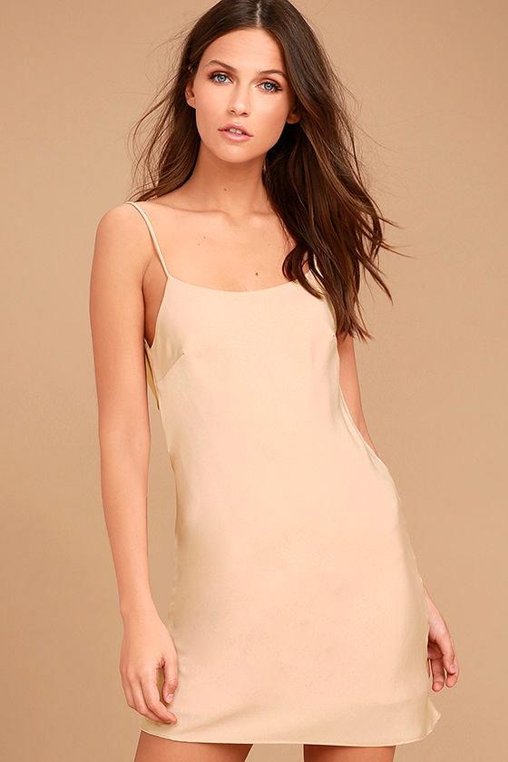 Make a Move Blush Pink Slip Dress 3