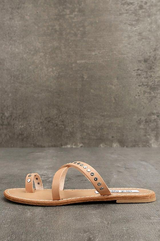 bd5c375c0b9019 Steve Madden Becky - Tan Sandals - Leather Sandals - Flat Sandals -  69.00