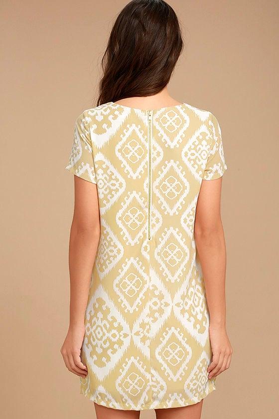 Give Me a Print Beige Print Shift Dress 4