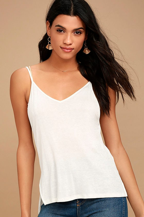 Way to My Heart Ivory Tank Top 1