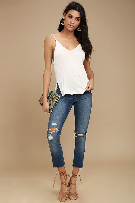 Way to My Heart Ivory Tank Top 2