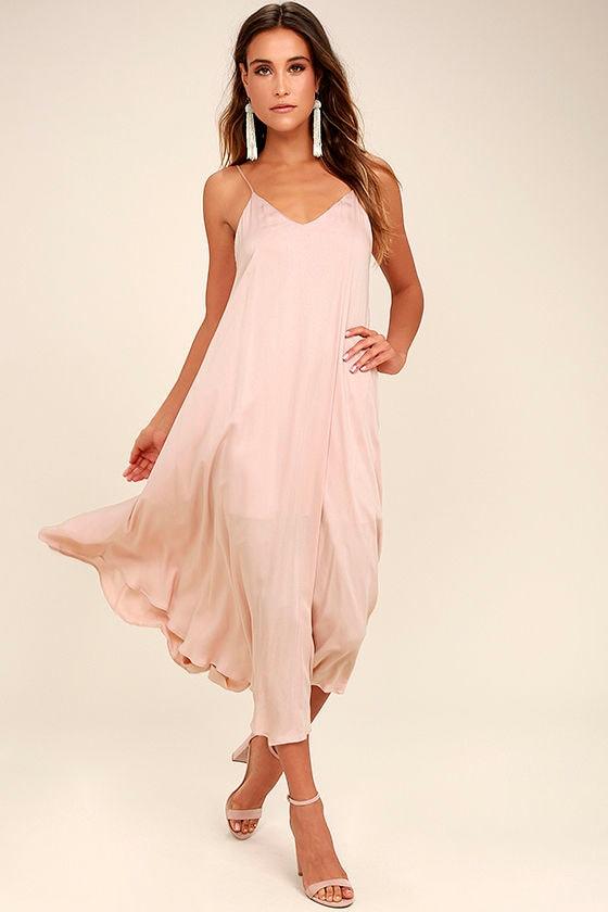 Lasting Memories Blush Midi Dress 1