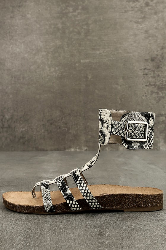 2db0ebe1e Circus by Sam Edelman Katie Cashmere - Snake Sandals - Ankle Strap Sandals  -  60.00