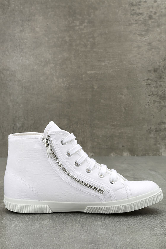 Superga 2224 COTU White Canvas High-Top Sneakers 4