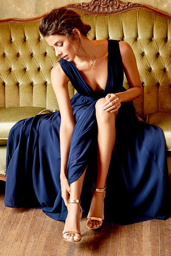 Heavenly Hues Navy Blue Maxi Dress 2