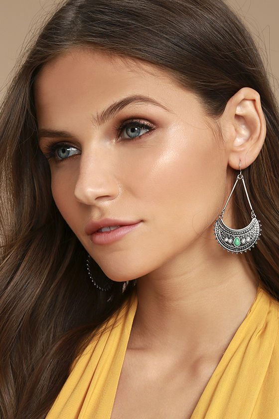 Imogene Turquoise and Silver Earrings 1