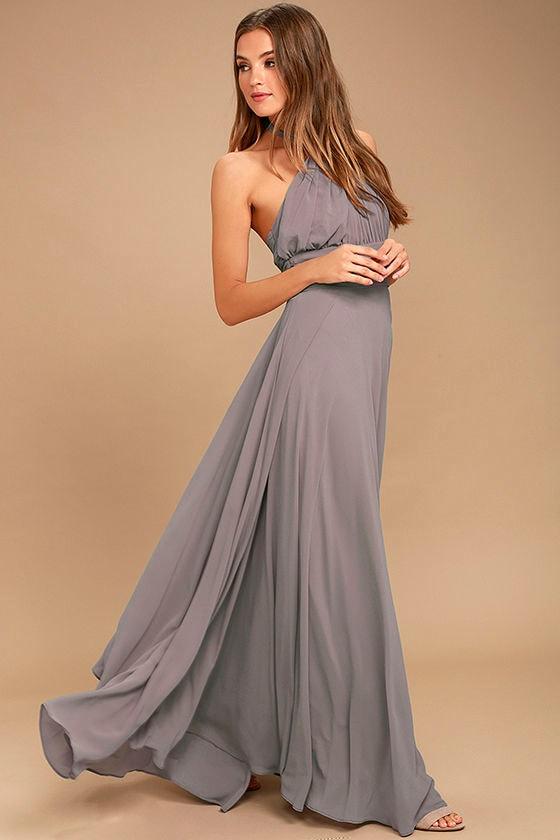 Dance of the Elements Dusty Purple Maxi Dress 2