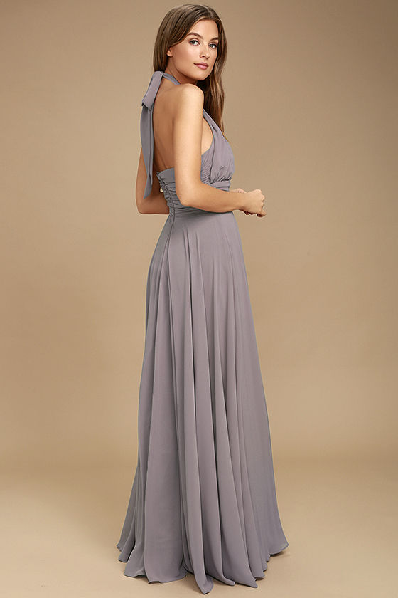 Dance of the Elements Dusty Purple Maxi Dress 3