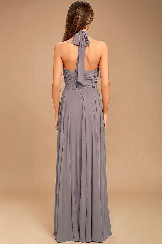 Dance of the Elements Dusty Purple Maxi Dress 4
