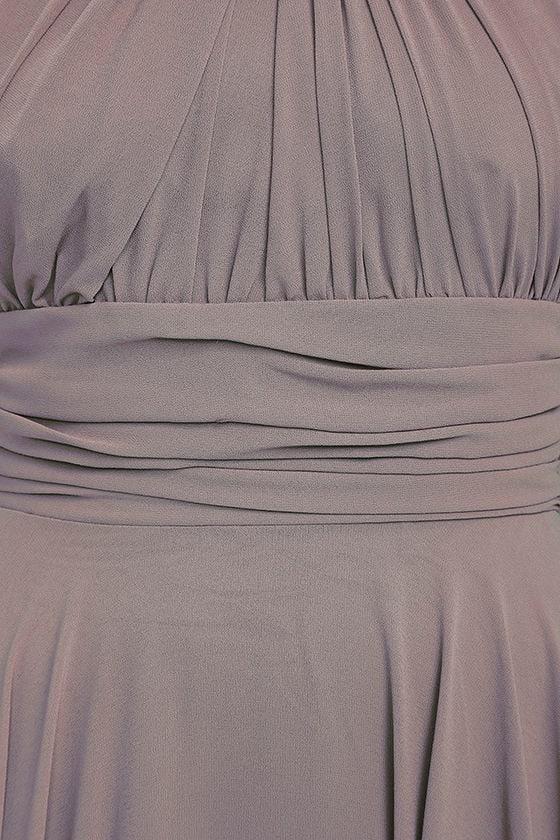 Dance of the Elements Dusty Purple Maxi Dress 6