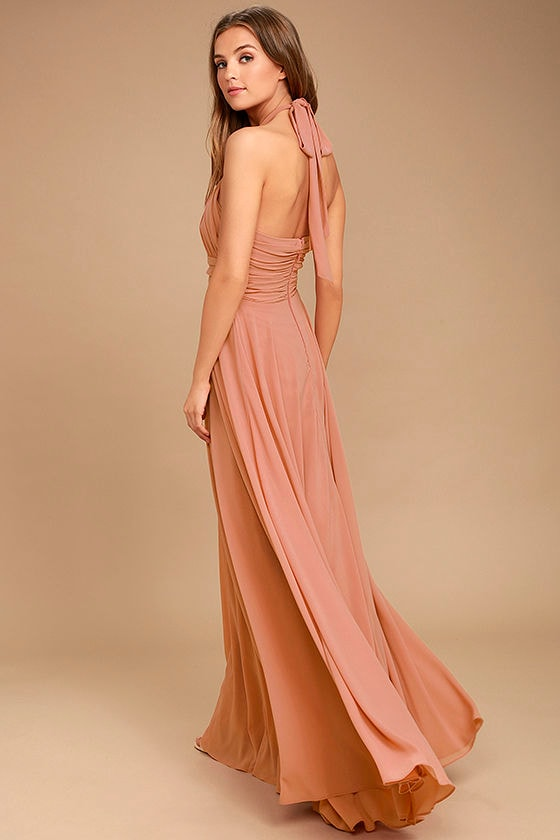 Dance of the Elements Rusty Rose Maxi Dress 3