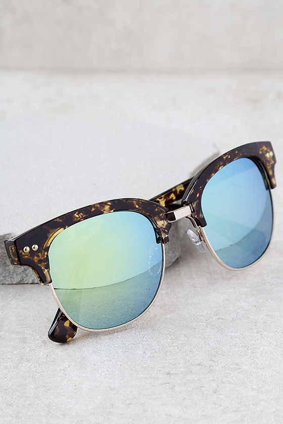 Perverse Barrett Tortoise and Blue Mirrored Sunglasses 1