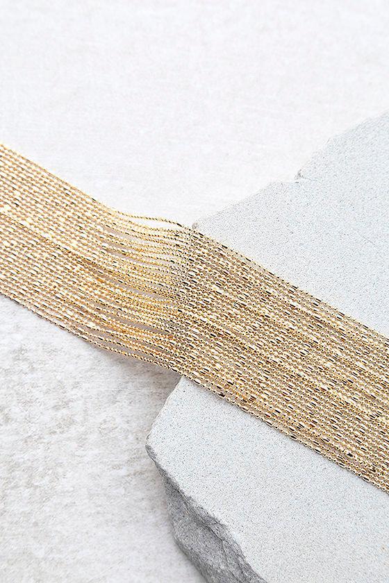 Love Bug Gold Layered Choker Necklace 3