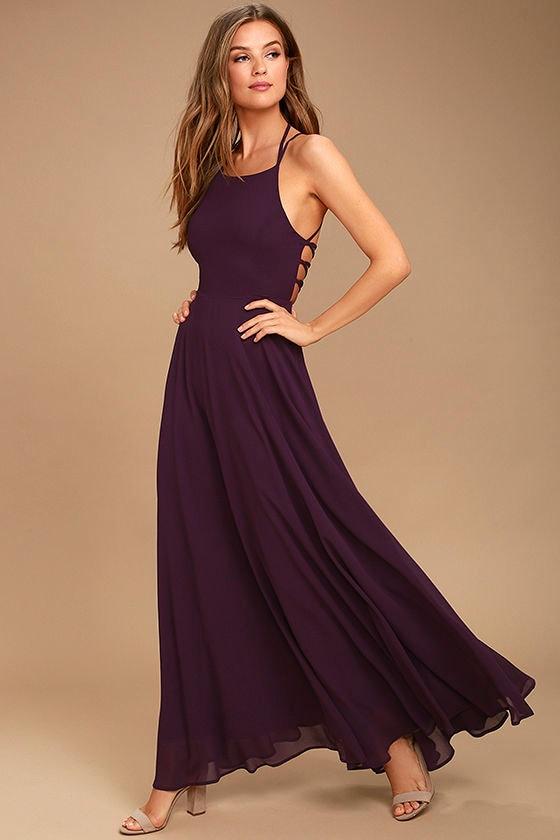 Purple Single Strap Dresses Promotion