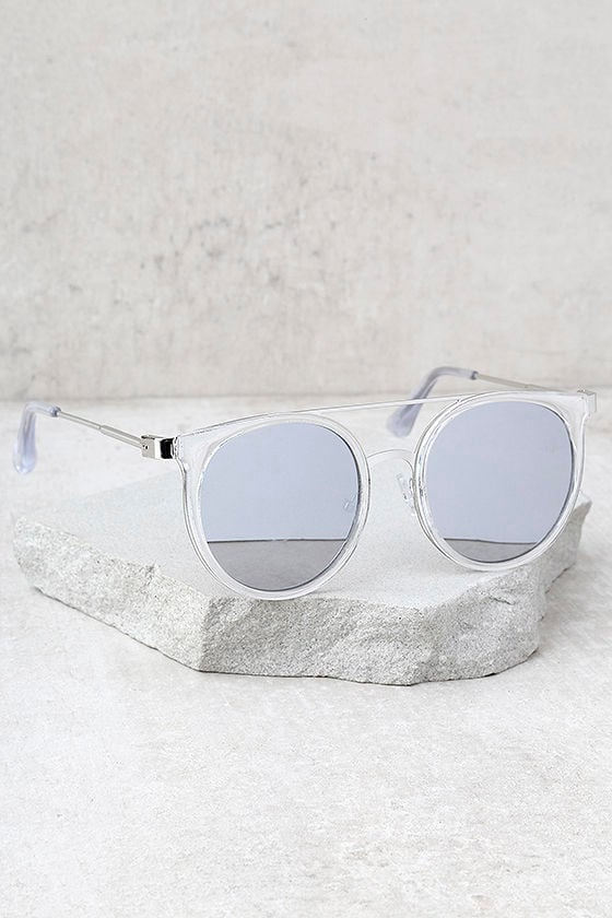 Out of This World Clear and Silver Mirrored Sunglasses 2