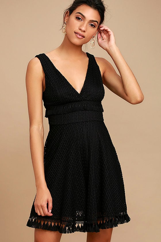 Ali & Jay Kiss Me in the Candlelight Black Lace Dress 1