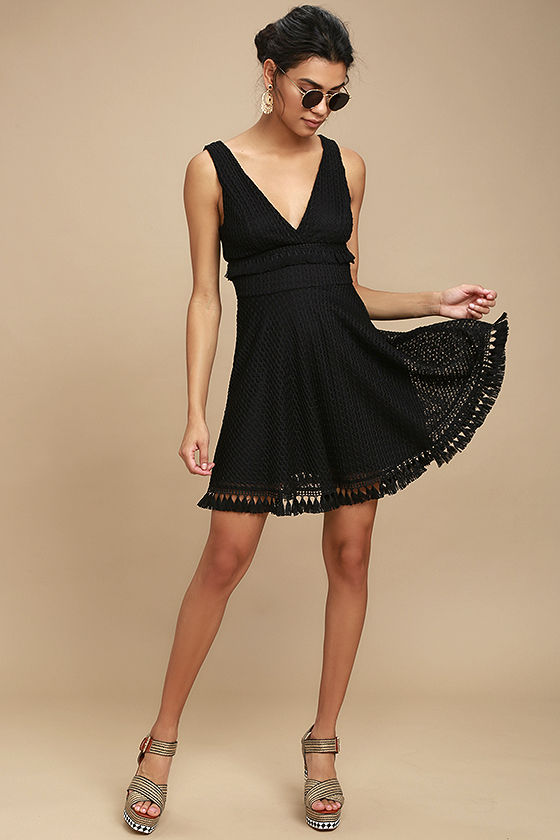 Ali & Jay Kiss Me in the Candlelight Black Lace Dress 2