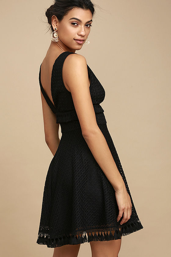 Ali & Jay Kiss Me in the Candlelight Black Lace Dress 3