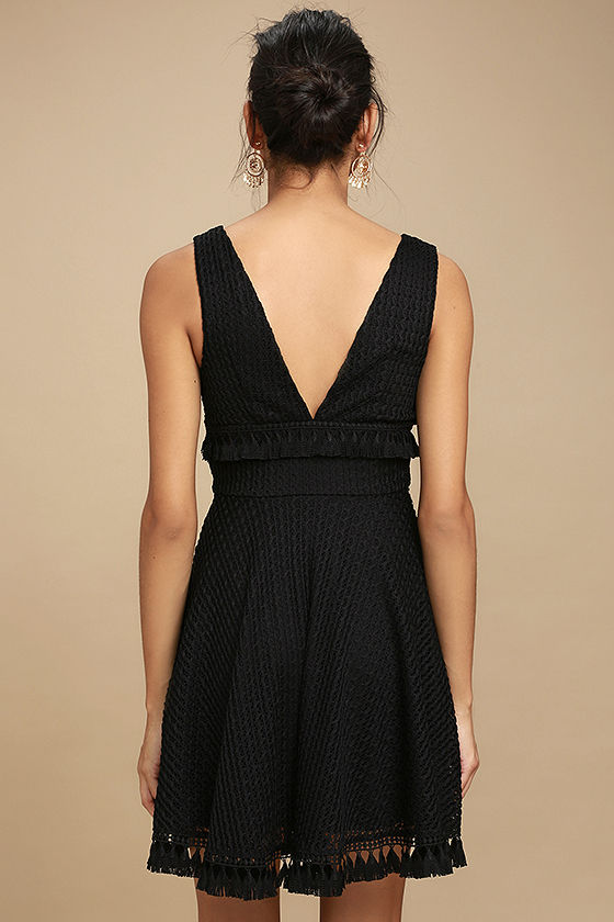 Ali & Jay Kiss Me in the Candlelight Black Lace Dress 4