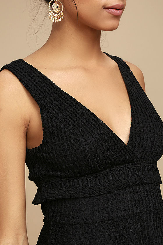 Ali & Jay Kiss Me in the Candlelight Black Lace Dress 5