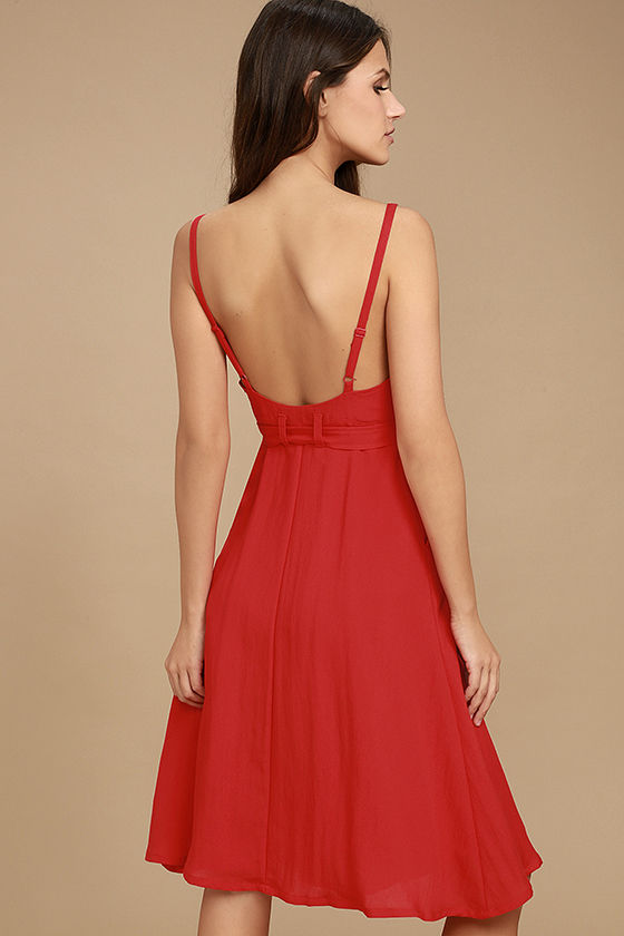 Free and Pier Red Belted Dress 3