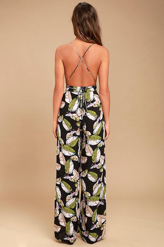 San Tropez Black Print Jumpsuit 4
