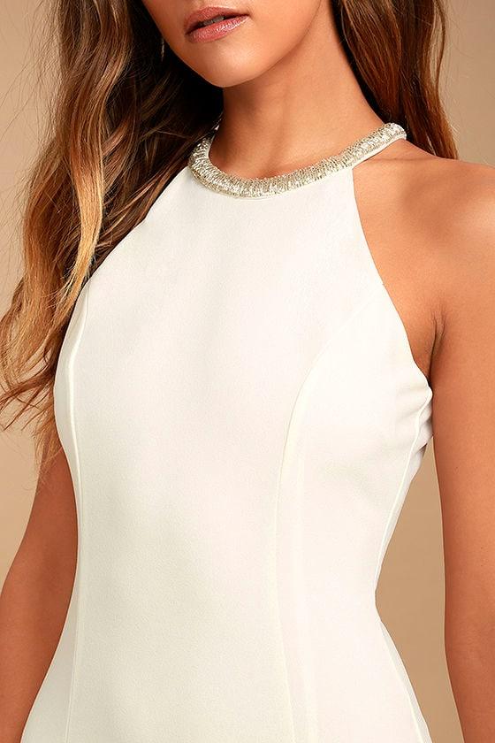 Girl in the Mirror White Beaded Maxi Dress 5