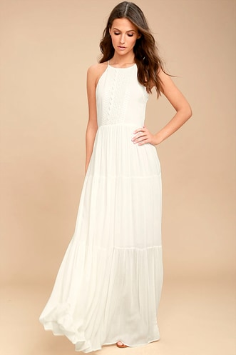 faa6c2ad0dd58 For Life White Embroidered Maxi Dress