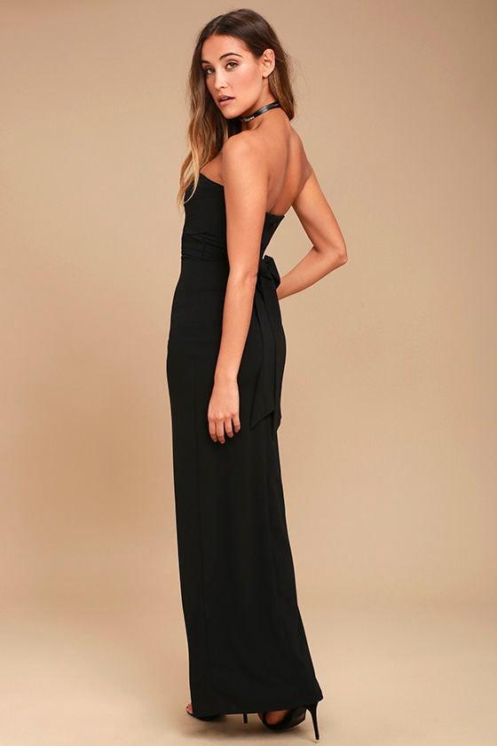 Own the Night Black Strapless Maxi Dress 3