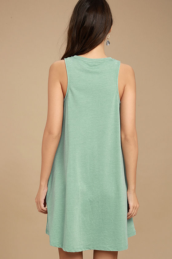 All Tied Up Sage Green Lace-Up Dress 4