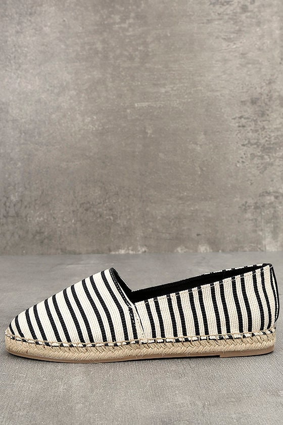 Circus by Sam Edelman Laila Black and White Espadrille Flats 1