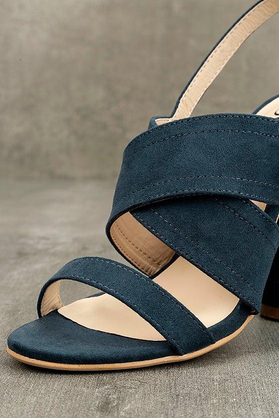 Abiona Navy Suede High Heel Sandals 6