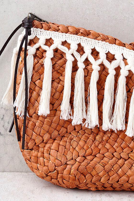 San Diego Hat Co. Jina Terra Cotta Woven Clutch 2