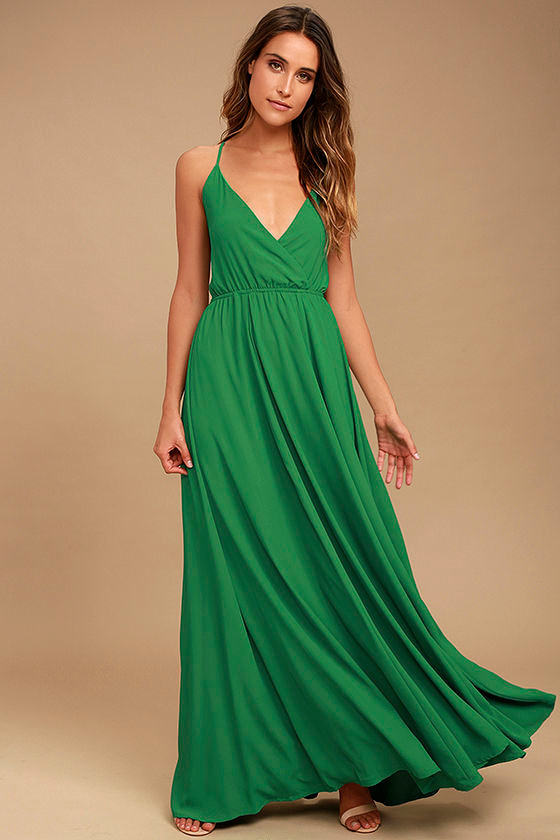 Everything's All Bright Green Backless Maxi Dress 1