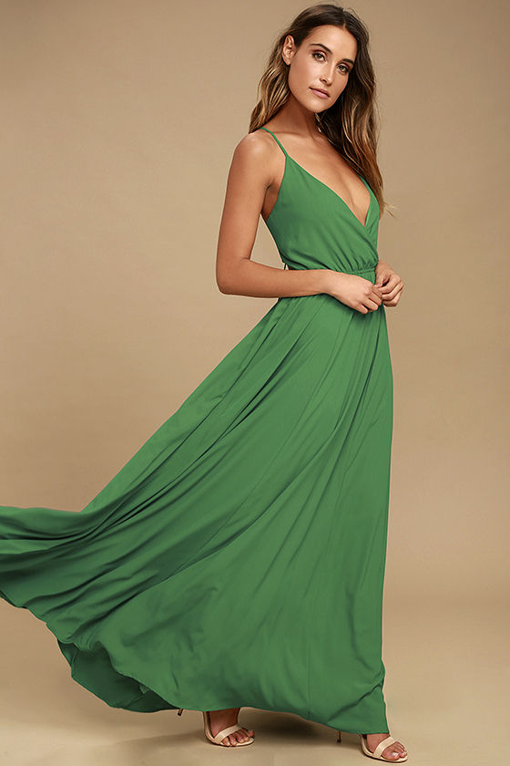 Everything's All Bright Green Backless Maxi Dress 2