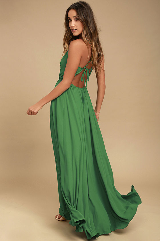 Everything's All Bright Green Backless Maxi Dress 3