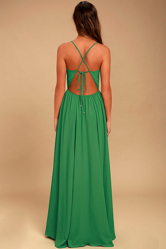 Everything's All Bright Green Backless Maxi Dress 4