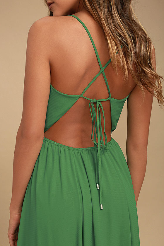 Everything's All Bright Green Backless Maxi Dress 5