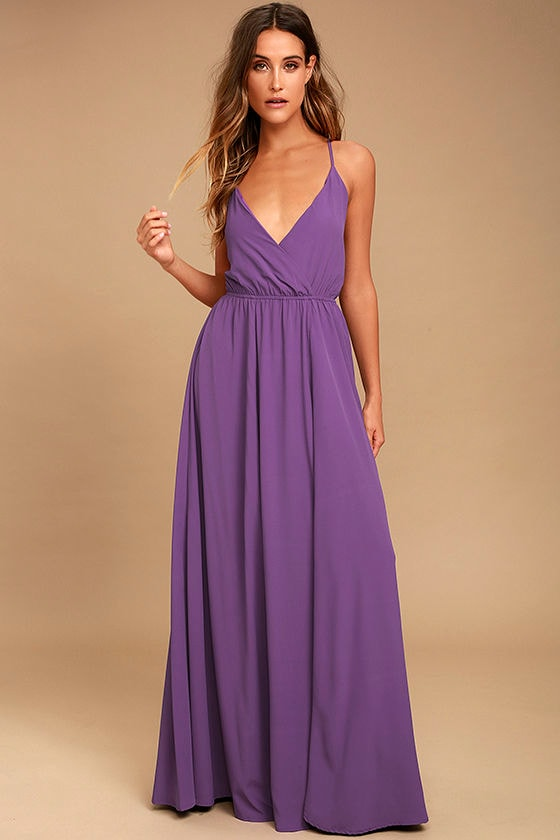 38207dd89a8 Lovely Purple Maxi Dress - Backless Maxi Dress - Lace-Up Maxi -  96.00