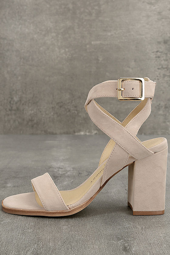 Chinese Laundry Sitara Rose Suede Leather High Heel Sandals 2