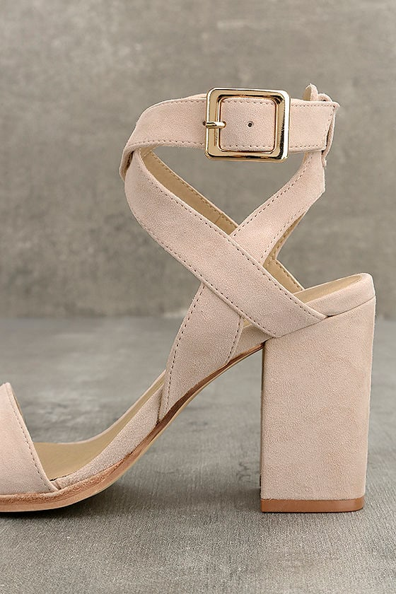 Chinese Laundry Sitara Rose Suede Leather High Heel Sandals 7