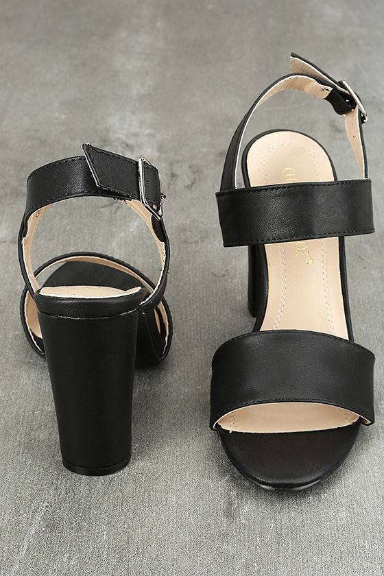 Hanneli Black High Heel Sandals 2