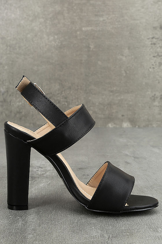 Hanneli Black High Heel Sandals 3