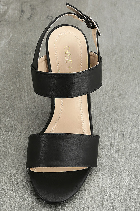Hanneli Black High Heel Sandals 4
