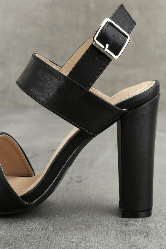 Hanneli Black High Heel Sandals 6
