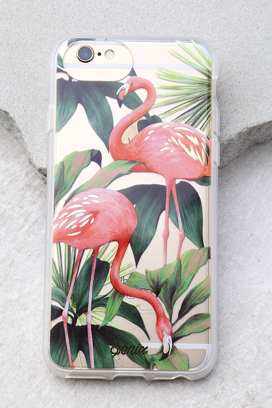 Sonix Flamingo Garden Clear and Pink Print iPhone 7 Case 1