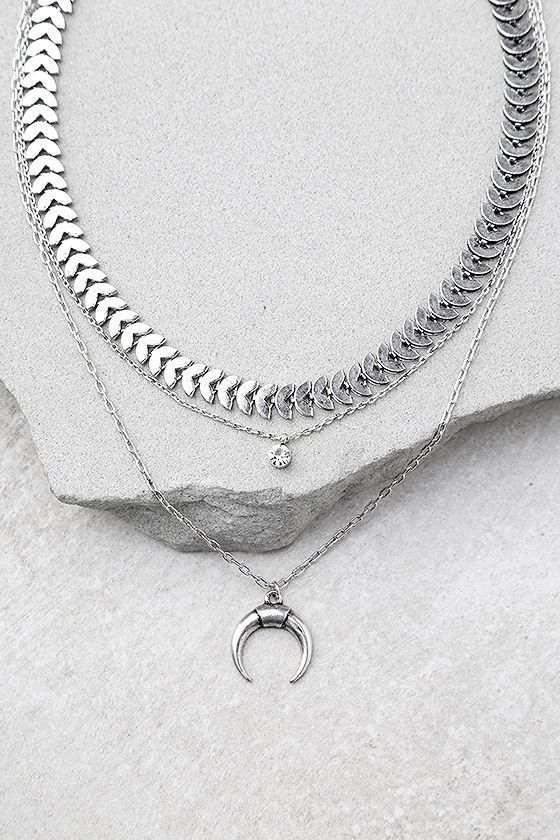 Child of the Wild Silver Layered Choker Necklace Set 1