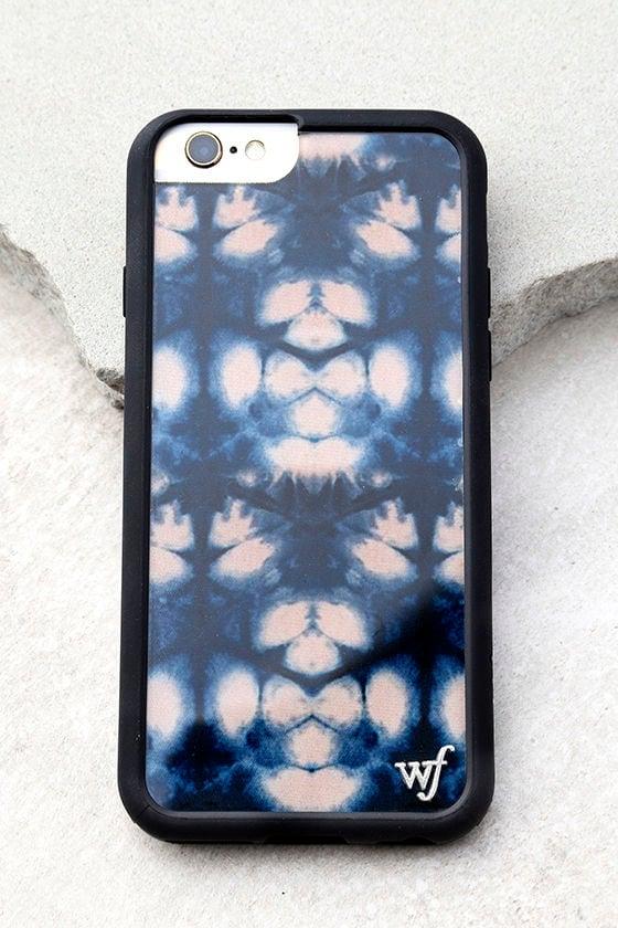 Wildflower Indigo Tie-Dye Print iPhone 6 and 6s Case 1