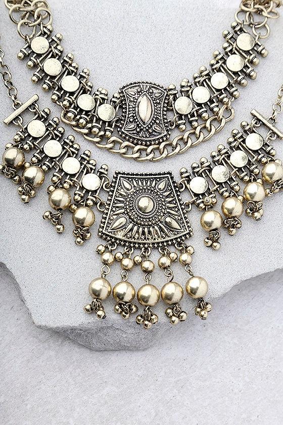 Dreams in Bali Gold Choker Necklace Set 1