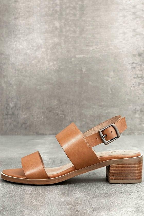 Seychelles Gallivant Whiskey Brown High Heel Sandals